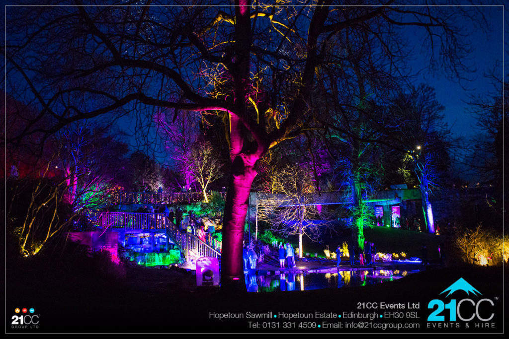 enchanted lighting by 21CC Events Ltd