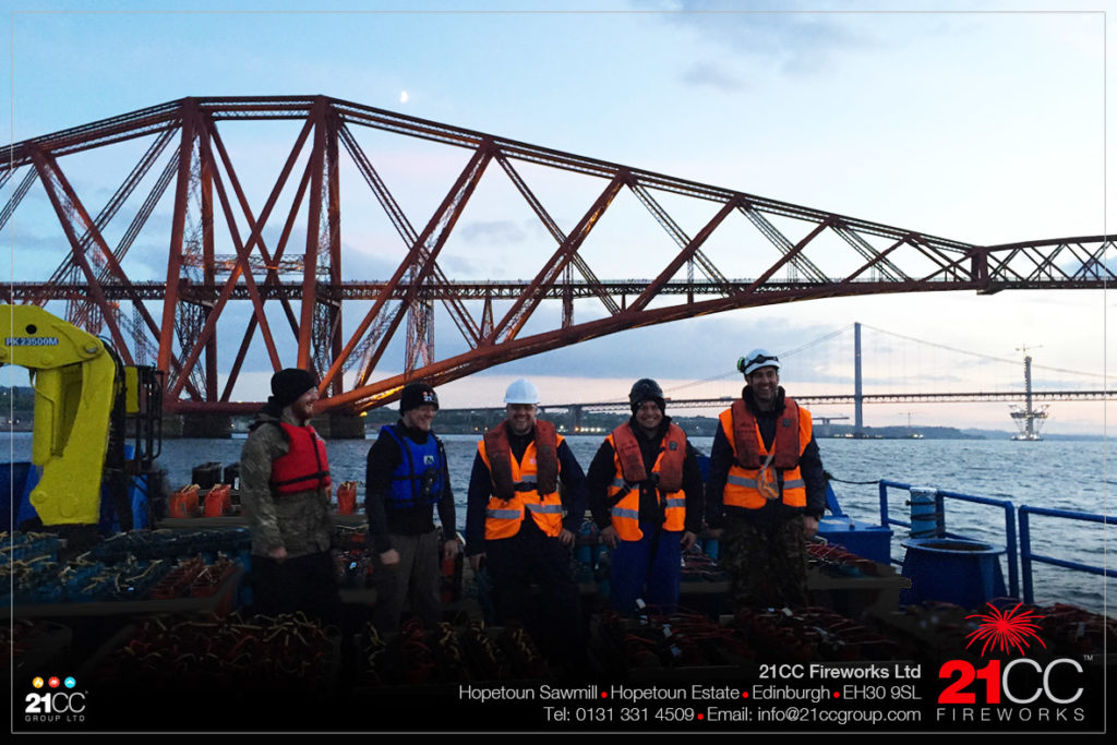 Forth Rail Bridge Fireworks Display by 21CC Fireworks Ltd