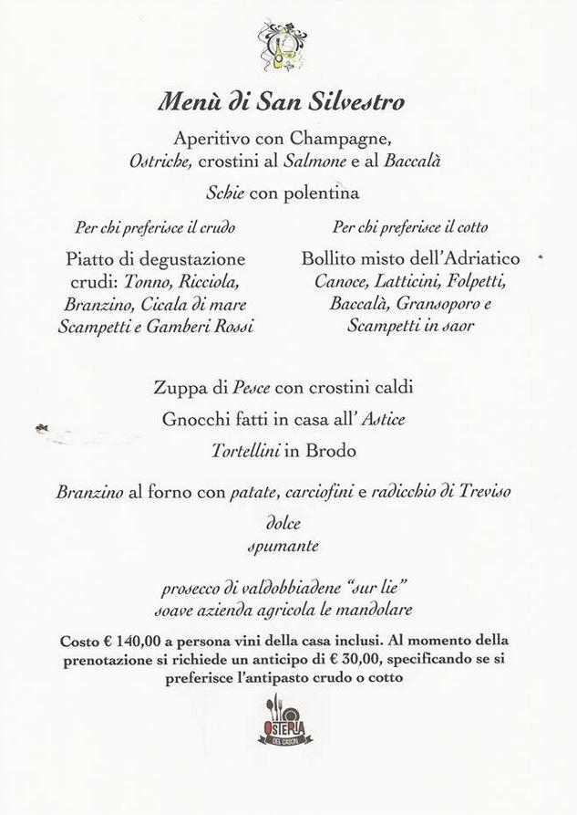 I Menu Del Pranzo Di Natale 2014 E Del Cenone Della Vigilia A Venezia