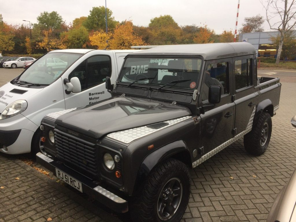 Land Rover Defender 110 Le Tomb Raider Restoration Jgs 4x4 Lights While That Lot Has Its First Stage Of Removing Rovers Powder Coat And The Zinc Applied Is Off To Bme Barnwell Motor Engineering For Brandon