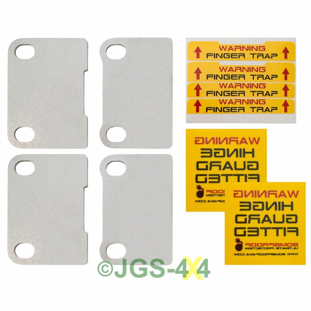 New Product Defender Door Hinge Security Plates Jgs 4x4