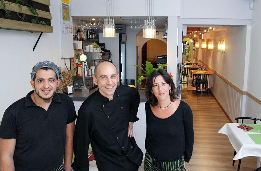 L'equip del restaurant Ralet, capitanejat per Francesc Camprubí