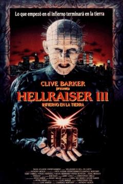 Poster Hellraiser 3: Infierno en la Tierra