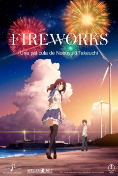 Poster Fireworks, Should We See It from the Side or The Bottom?
