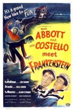 Poster Abbott y Costello Contra los Fantasmas