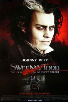 Poster Sweeney Todd. El Diablico Barbero de la Calle Fleet
