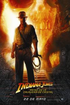 Poster Indiana Jones y el Reino de la Calavera de Cristal