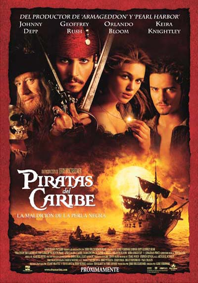 Poster Piratas del Caribe 1: La Maldicin de la Perla Negra