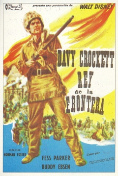 Poster Davy Crockett, Rey de la Frontera