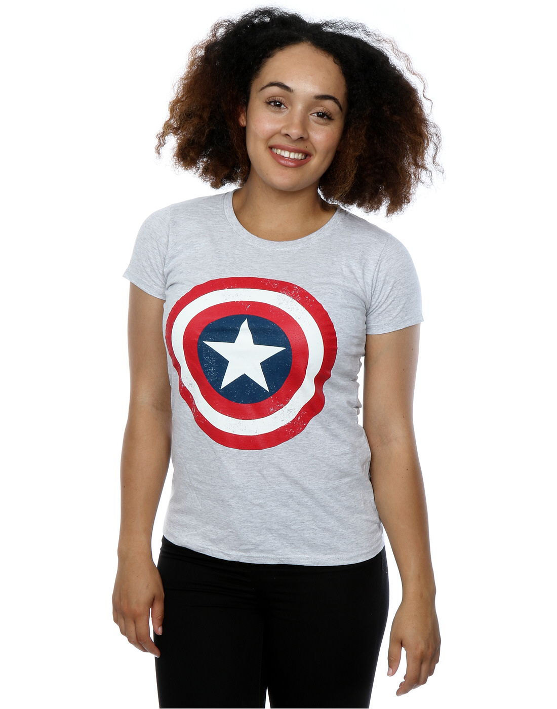 marvel s captain america distressed shield t shirt