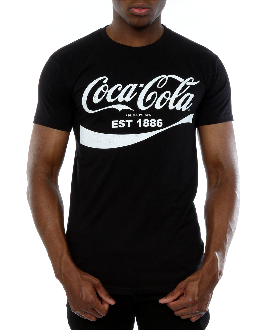 coca cola men 39 s 86 logo t shirt ebay. Black Bedroom Furniture Sets. Home Design Ideas