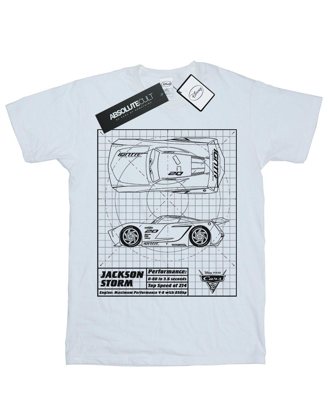 Disney boys cars jackson storm blueprint t shirt malvernweather Gallery