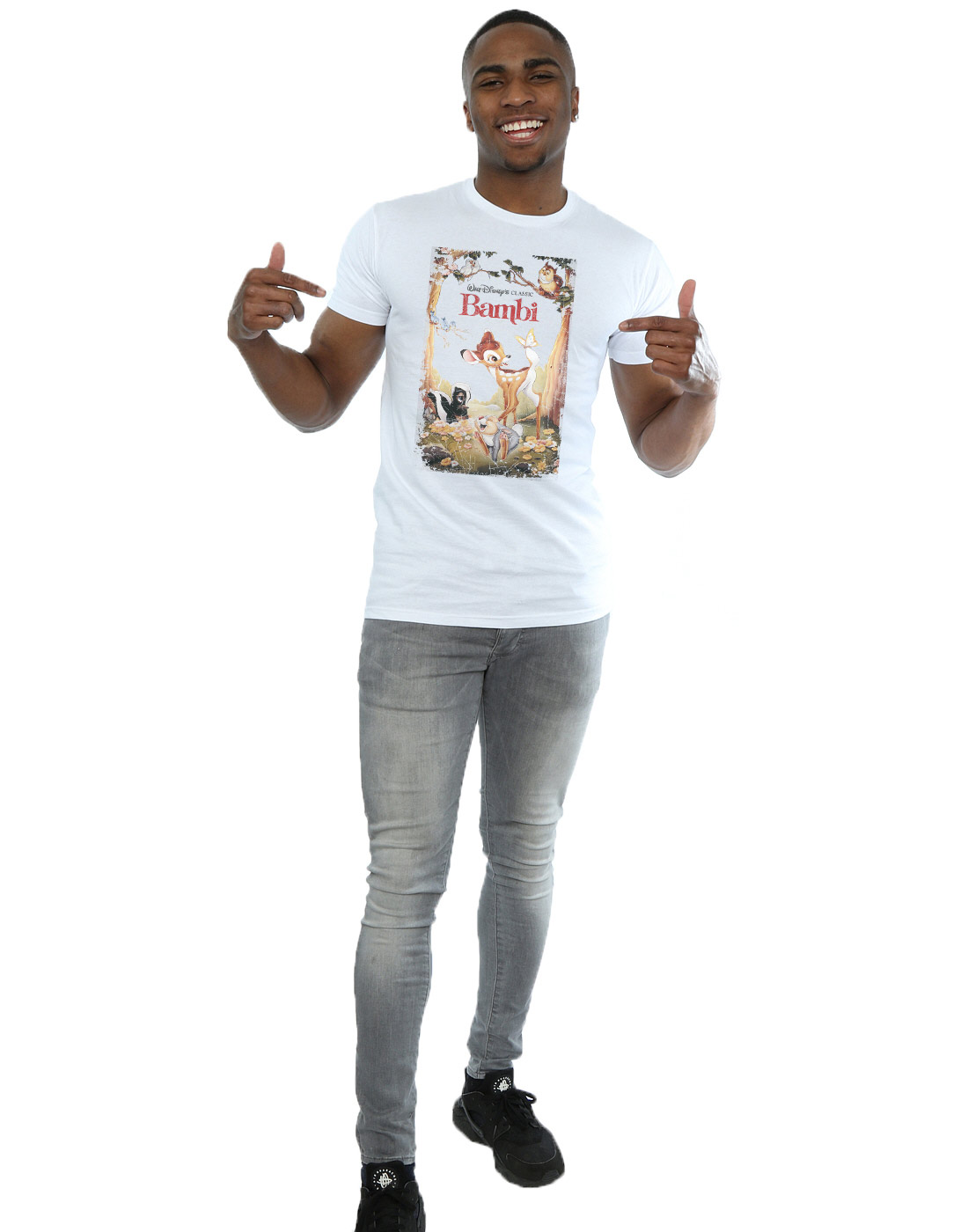 Disney hombre Bambi Retro Poster Camiseta