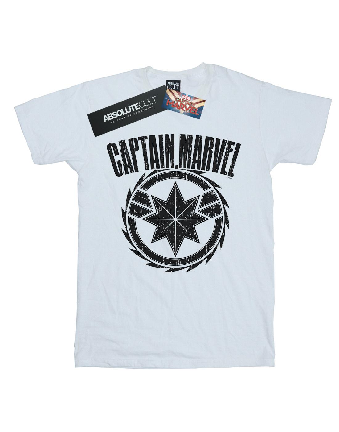 Marvel Hombre Capitán Maravilla Hoja emblema T-Shirt