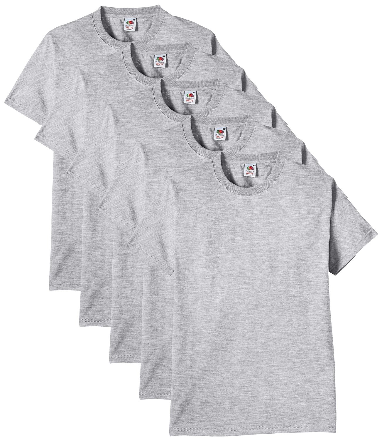 Fruit-of-the-Loom-Homme-Heavy-Multipack-Of-5-T-Shirt