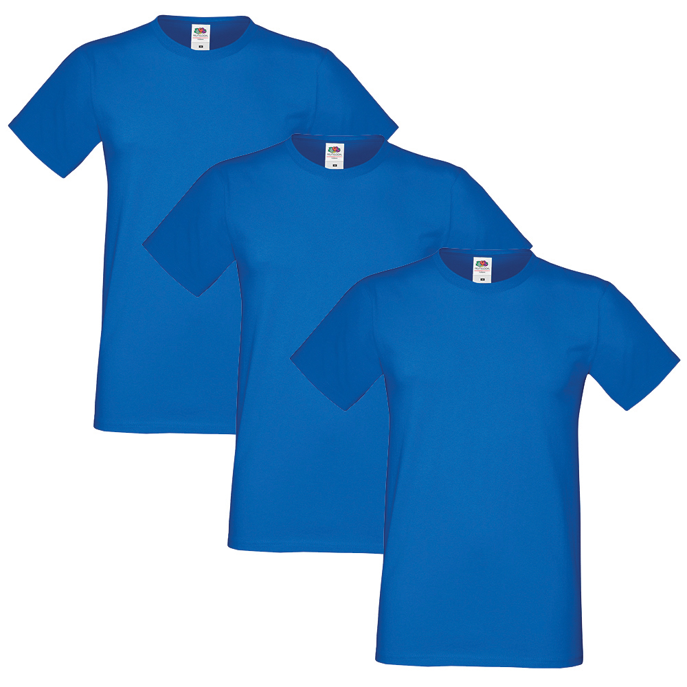 Fruit-of-the-Loom-Homme-Sofspun-Pack-of-3-T-Shirt