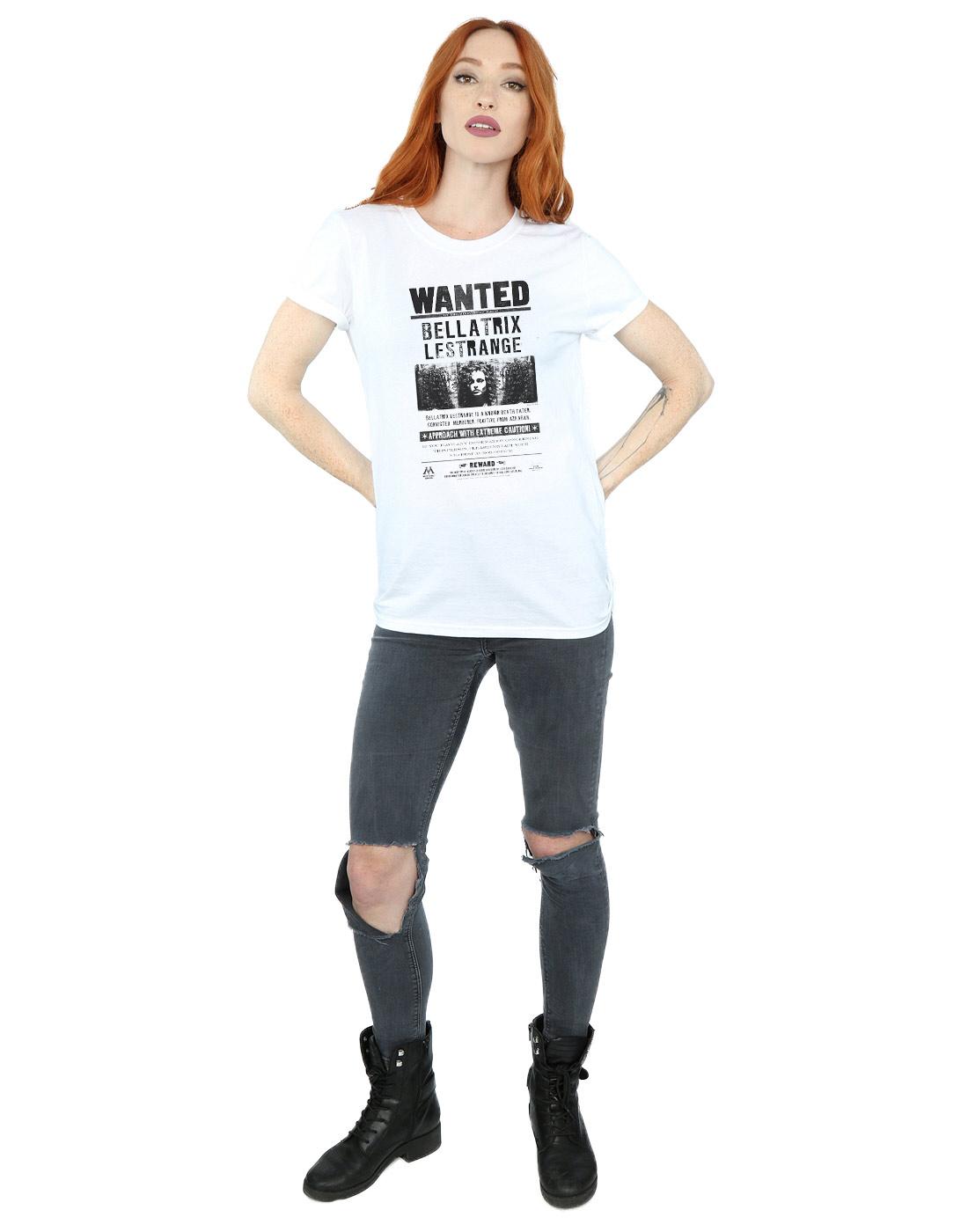 Harry Potter Damen Bellatrix Lestrange Wanted Boyfriend Fit T-Shirt