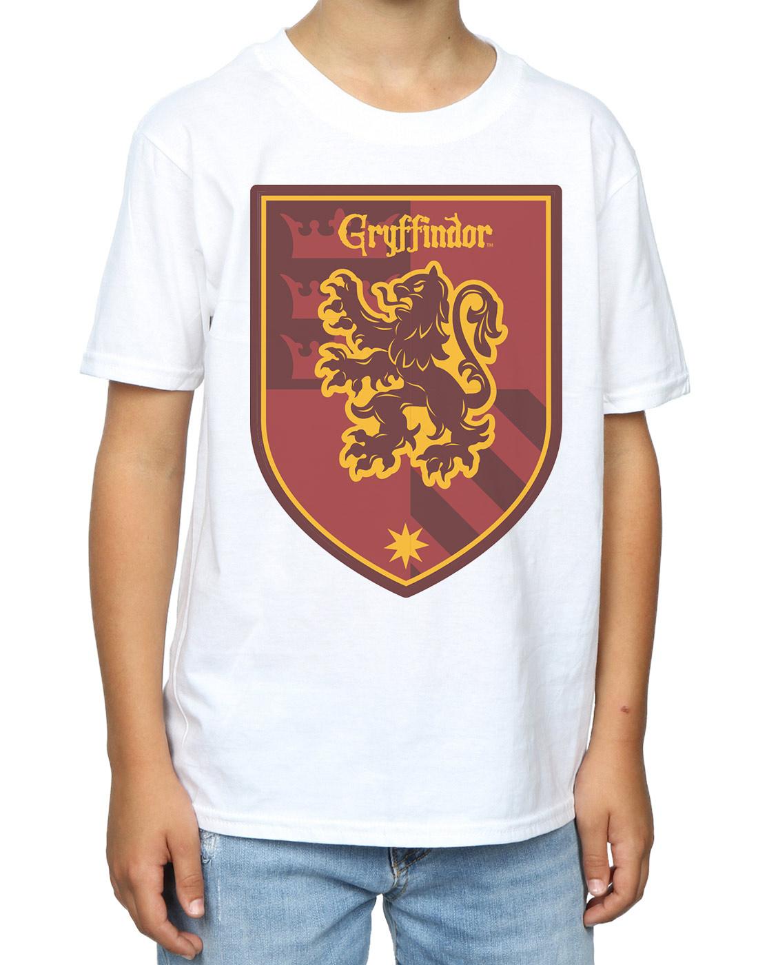 Harry Potter Boys Gryffindor Crest Flat T-Shirt
