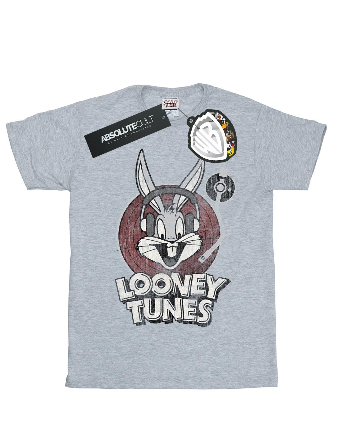 Looney Tunes Damen Bugs Bunny Circle Logo Boyfriend Fit T-Shirt
