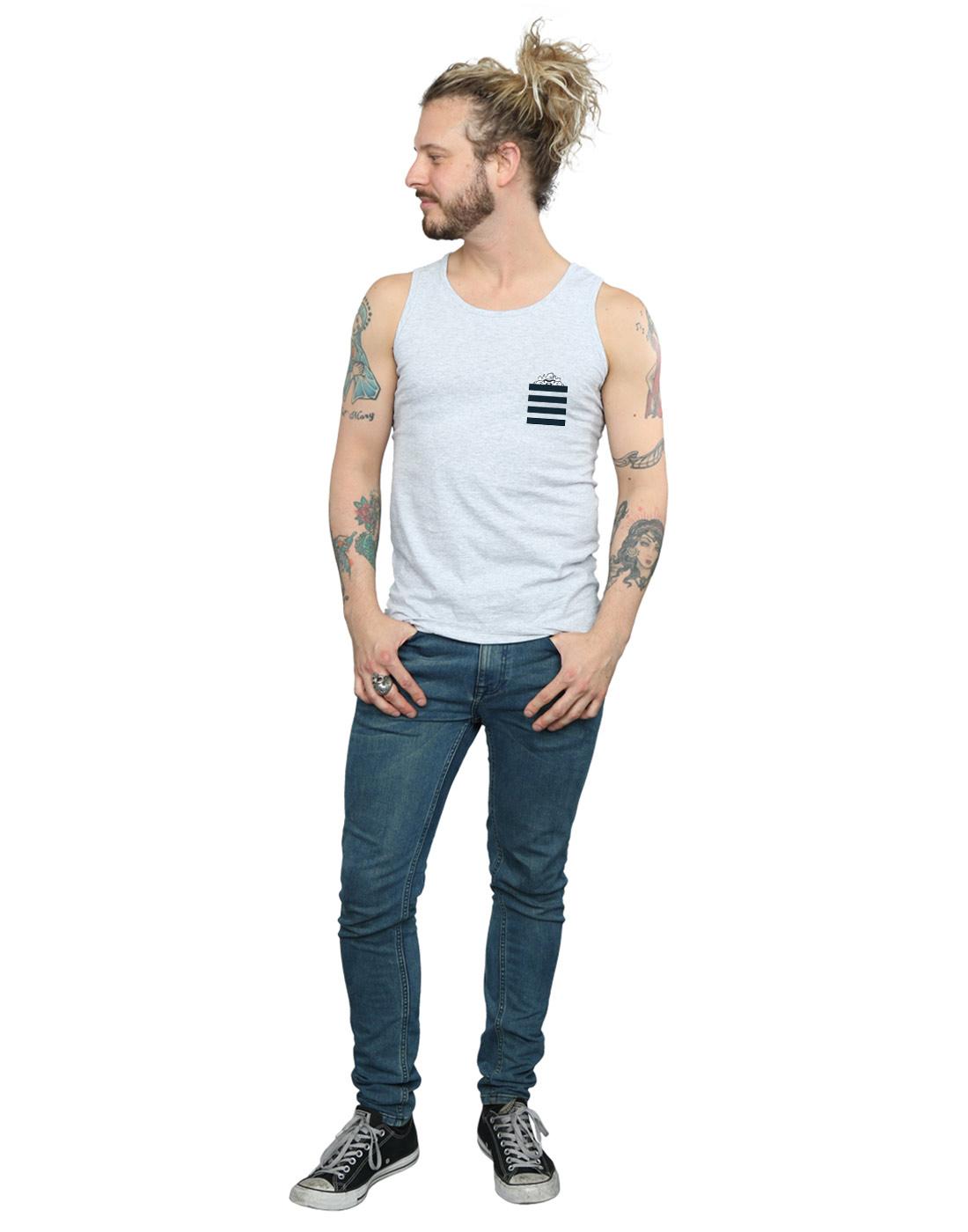 Looney Tunes Men/'s Taz Stripes Faux Pocket Vest
