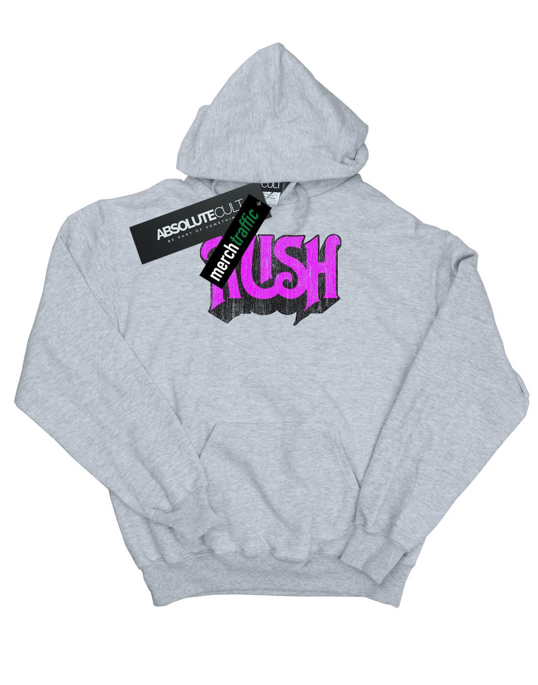 Rush Men/'s Distressed Logo Hoodie