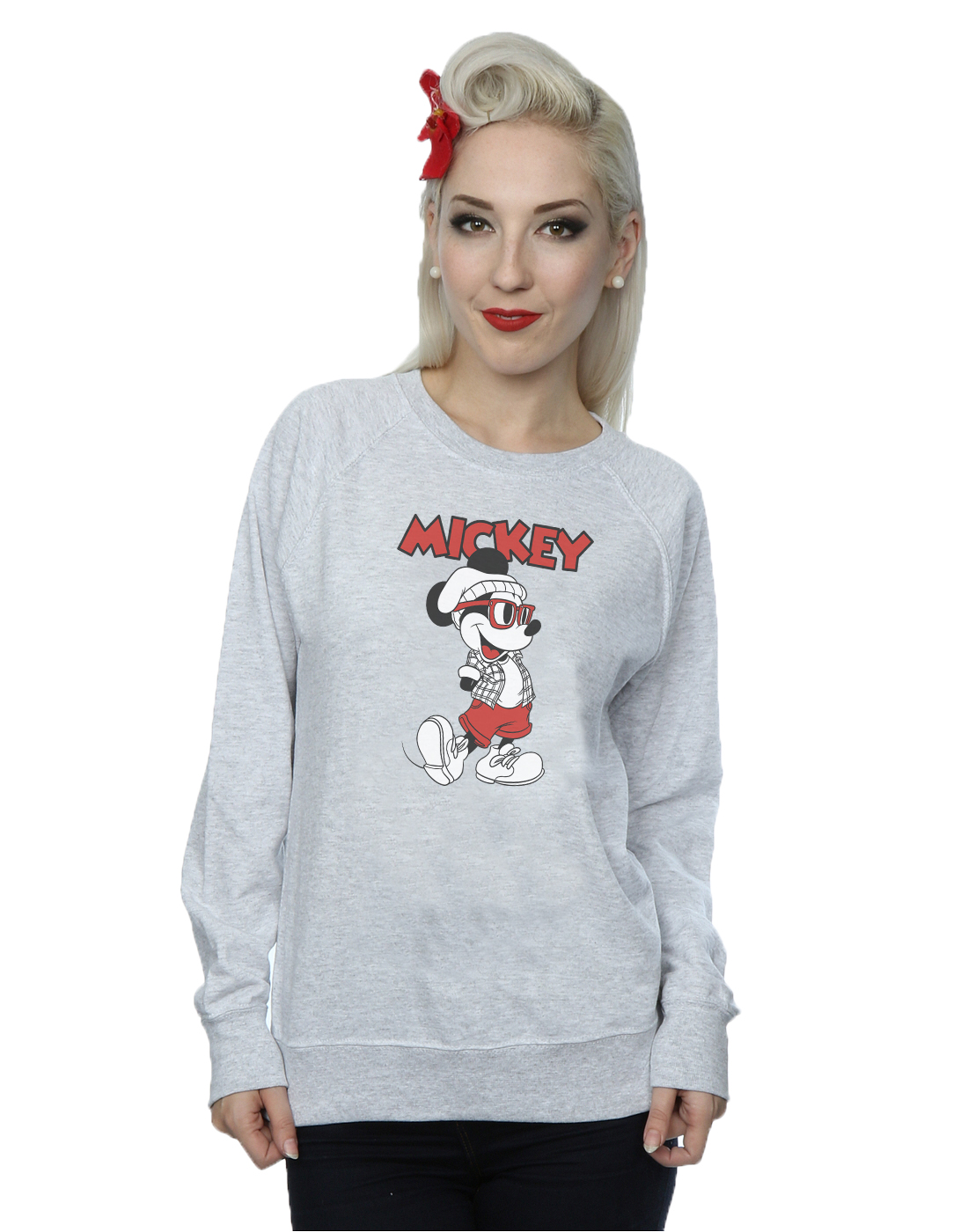 Disney-Femme-Mickey-Mouse-Hipster-Sweat-Shirt