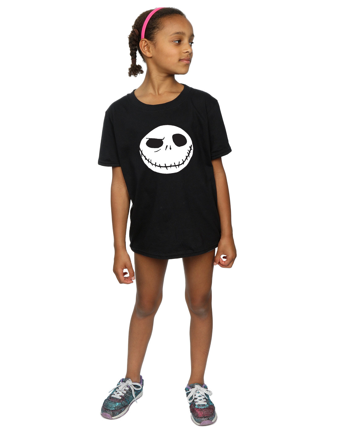 Disney Girls Nightmare Before Christmas Jack/'s Big Face T-Shirt