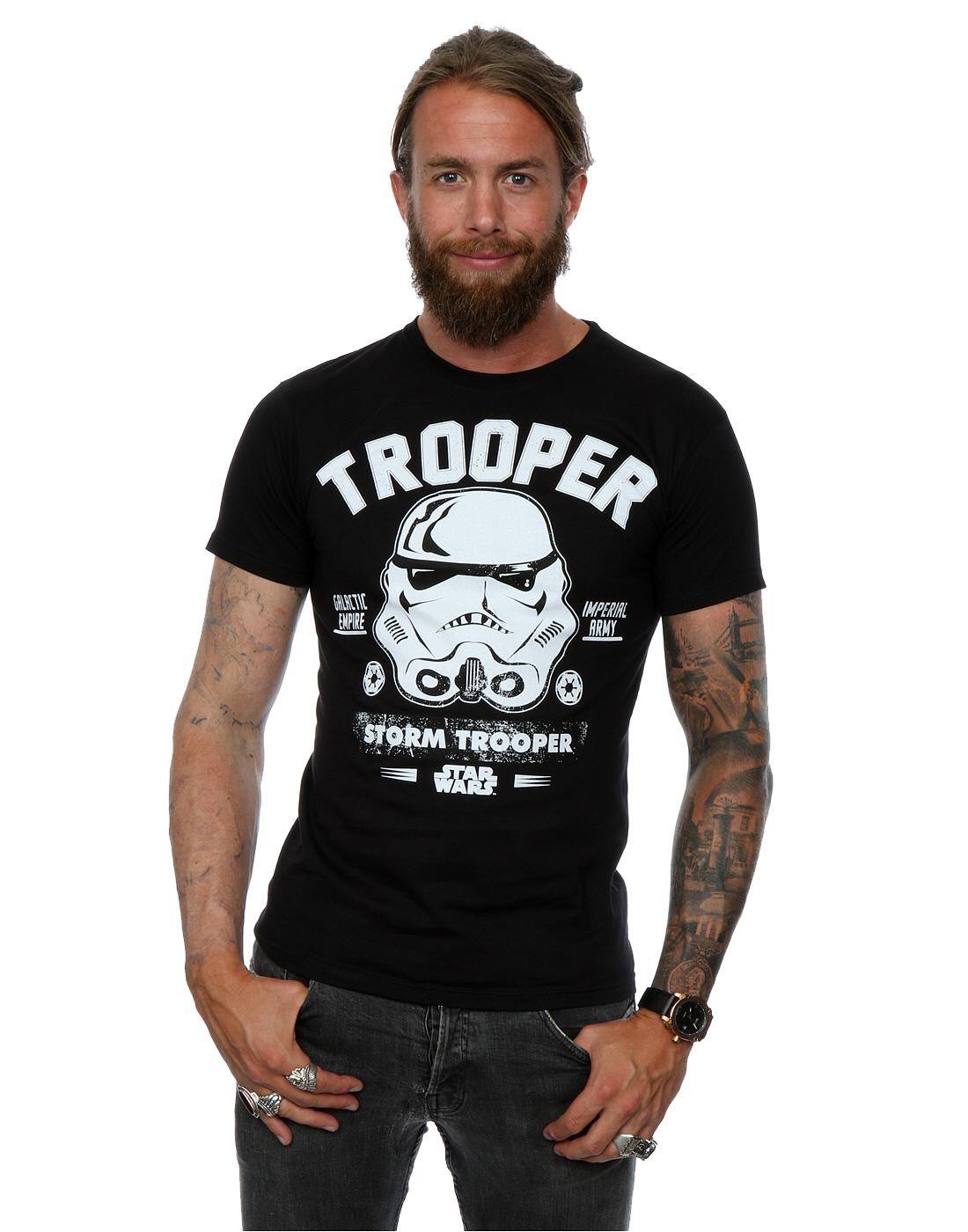 star wars herren stormtrooper collegiate t shirt ebay. Black Bedroom Furniture Sets. Home Design Ideas