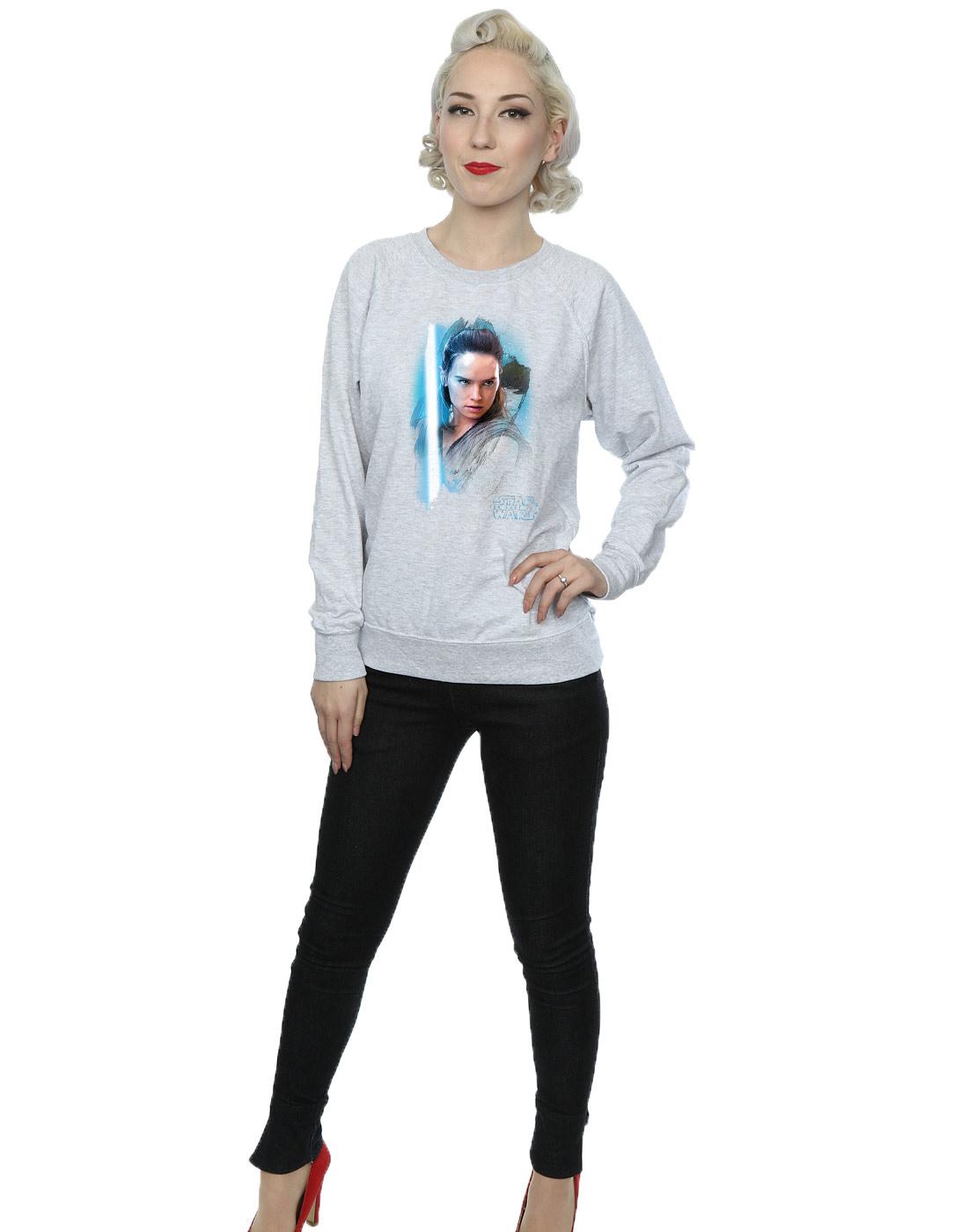 Star Wars Women/'s The Last Jedi Rey Brushed Sweatshirt