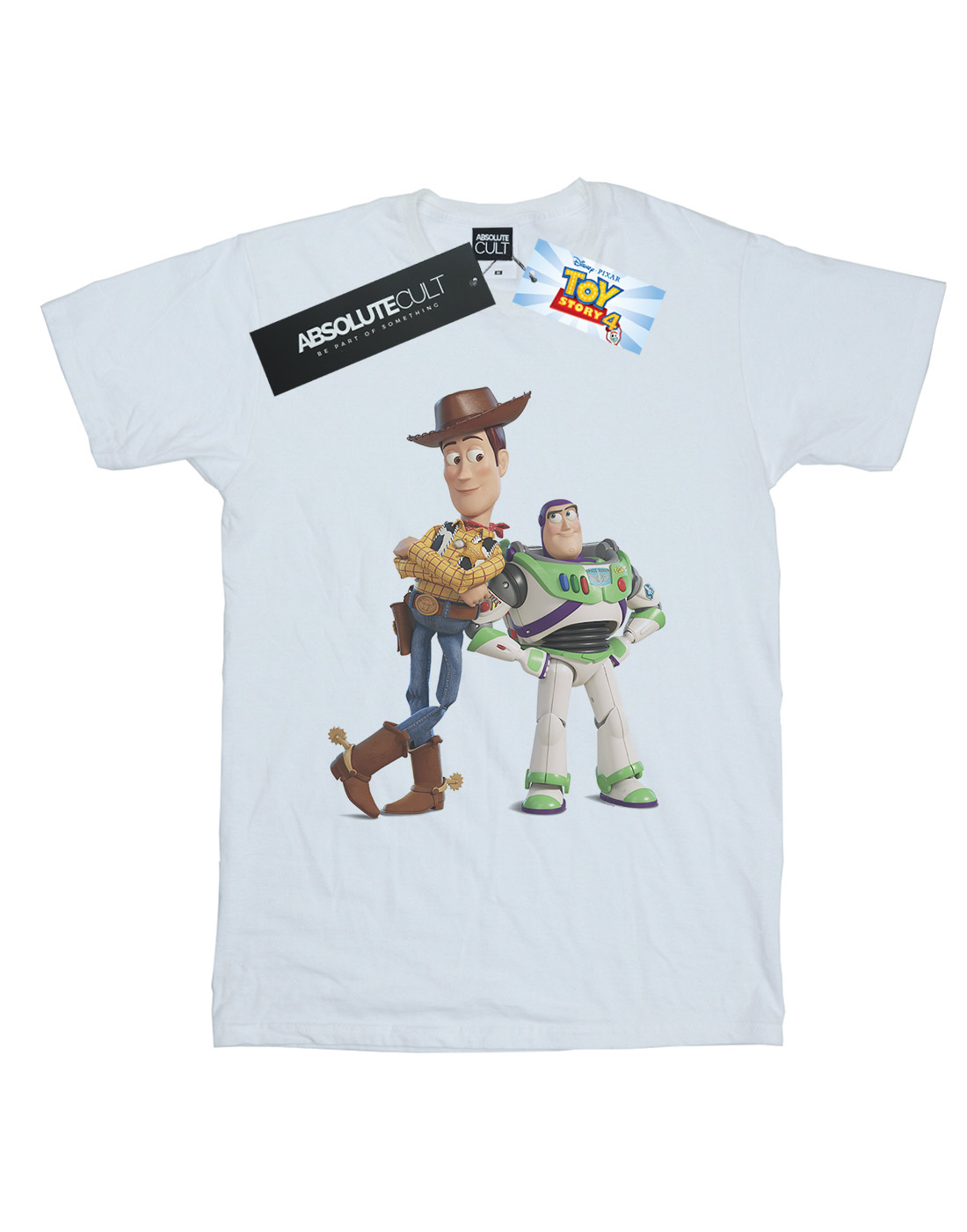 Disney Men/'s Toy Story Buzz And Woody Standing T-Shirt