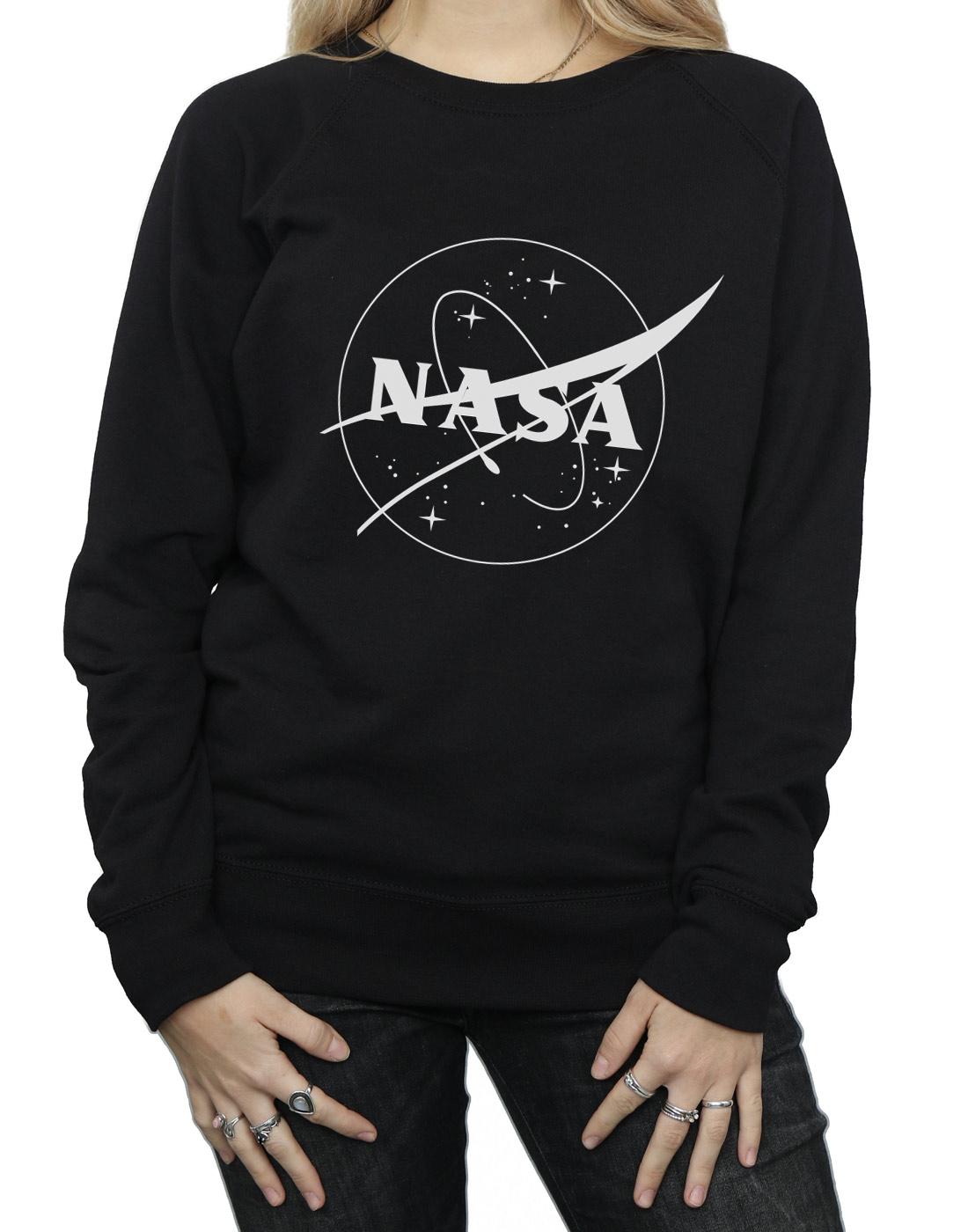 NASA Donna Classic Insignia Logo Monochrome Felpa