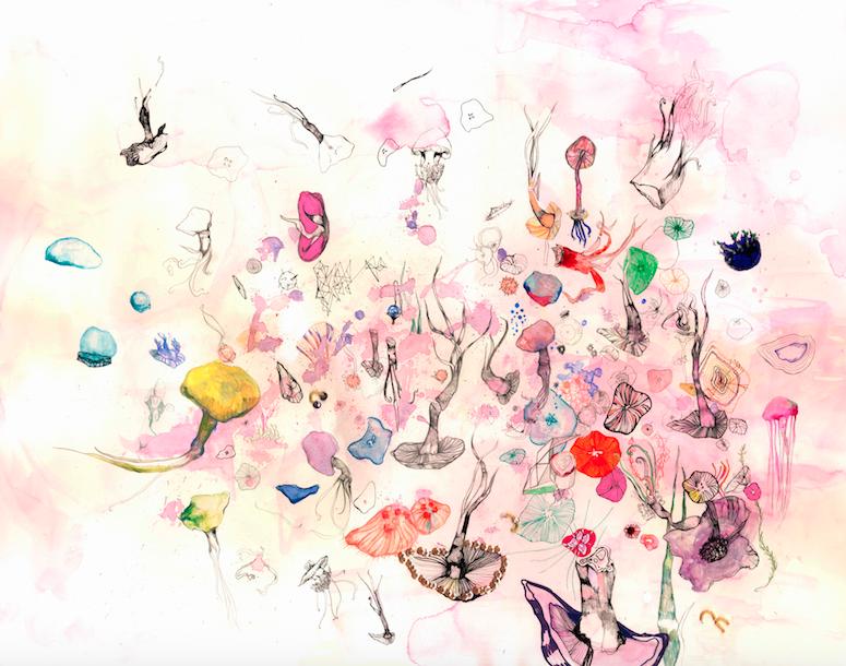 Yasmine's illustration entitled 'Candy Dungeons'