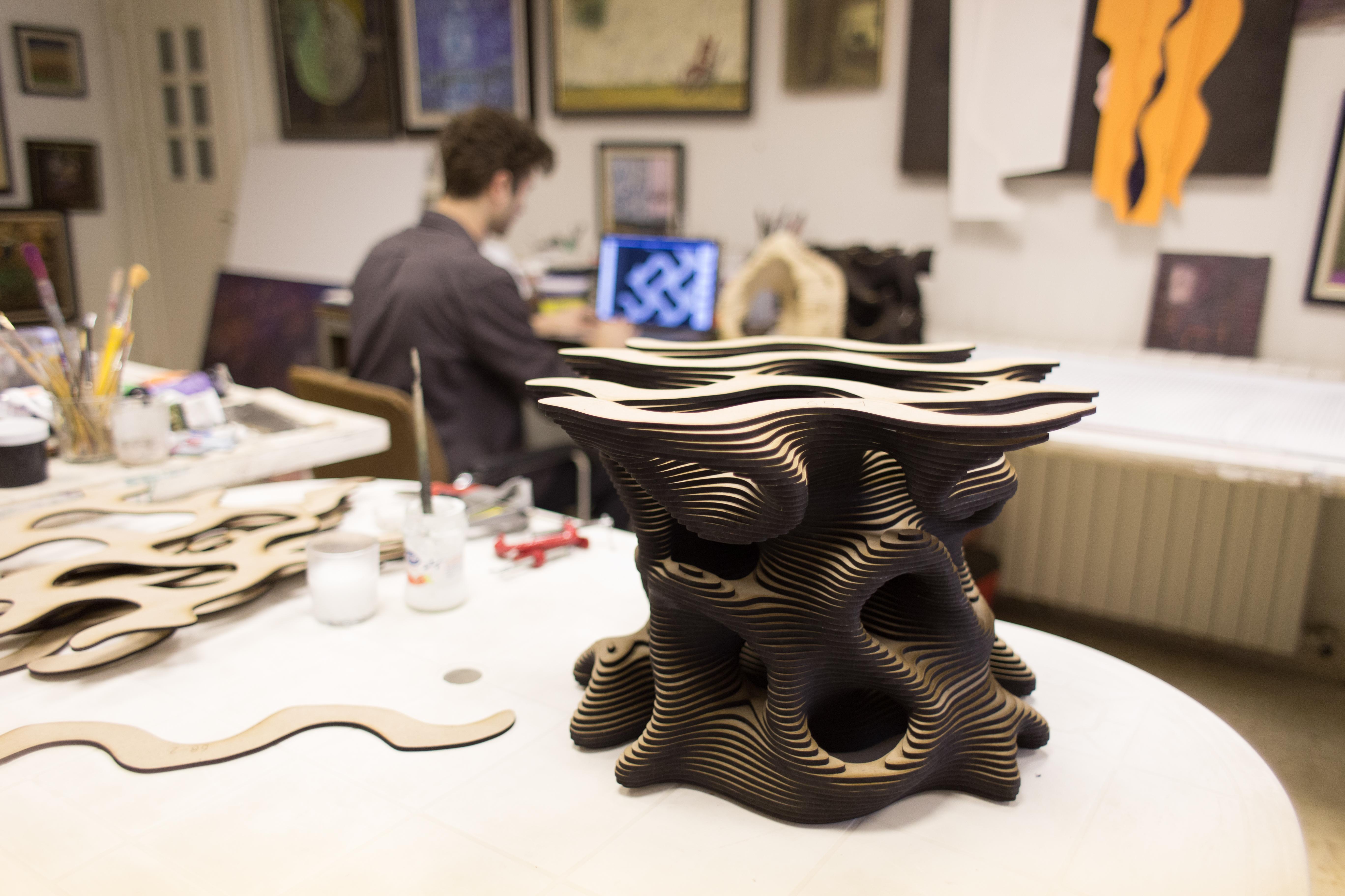 A glimpse into the studio of designer Hashem Joucka