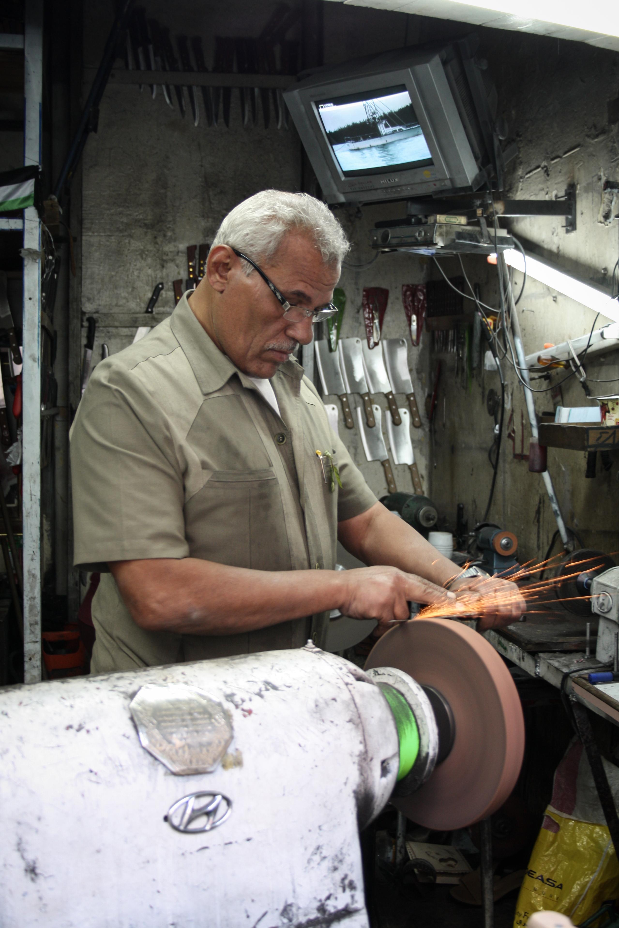 A skilled blacksmith's workshop