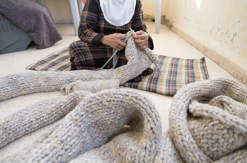 The Women behind Entrelac - image courtesy of Hussam Da'na