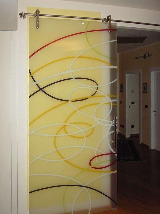 Porte automatiche in vetro arco trento santoni - Decorazioni porte interne ...