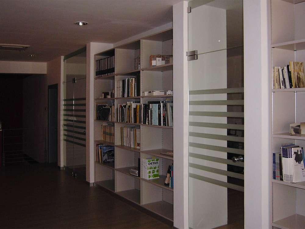 Porte automatiche in vetro arco trento santoni vetrisantoni vetri - Pareti divisorie mobili per abitazioni ...