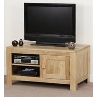 Image of: Nero Solid Oak TV Cabinet