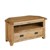 Image of: Reclaimed Oak - Corner TV Unit