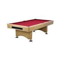 Image of: Riley 8ft Slate Pool Table - Red Felt