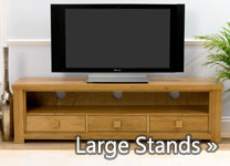 Large Oak TV Stands