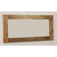 Image of: Mirror with Solid Light Mango Frame - 1200mm x 600mm