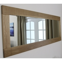 Image of: Contemporary Mirror with Solid Oak Frame - 1800mm x 600mm