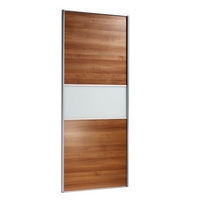 Image of: 2 Door Wardrobe Cabinet and Door Walnut Style/Glass - Wardrobes