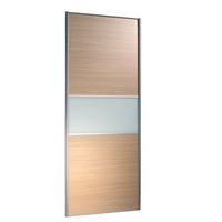 Image of: 2 Door Wardrobe Cabinet and Door Oak Style/Glass - Wardrobes