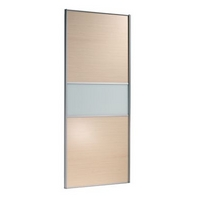 Image of: 3 Door Wardrobe Cabinet and Door Maple Style-Glass - Wardrobes