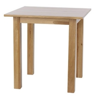 Image of: 3ft Square Tall Solid Oak Table - Oak Tables