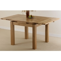 Image of: Solid Oak Extending Dining Table 3ft x 3ft, Seats up to 6 people Extended - Oak