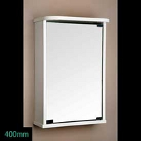 Image of: White Mirror Cabinet - 400mm Mirror