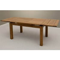 Image of: Rustic Solid Oak Extending Dining Table 4ft 7 x 3ft - Solid Oak Table